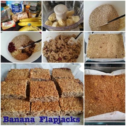 Banana flapjacks
