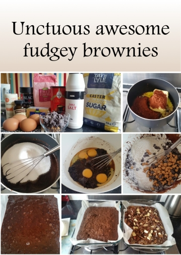 Unctuous awesome fudgey brownies