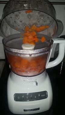 Purreeing pumpkin